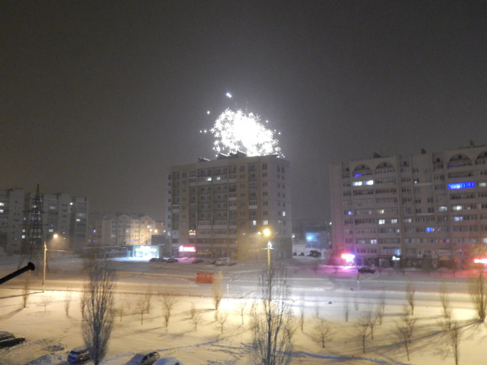 Камышане встретили Новый год разноцветным салютом