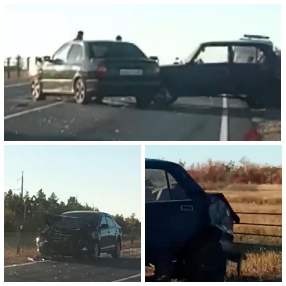Лоб в лоб: в ДТП под Камышином столкнулись три автомобиля