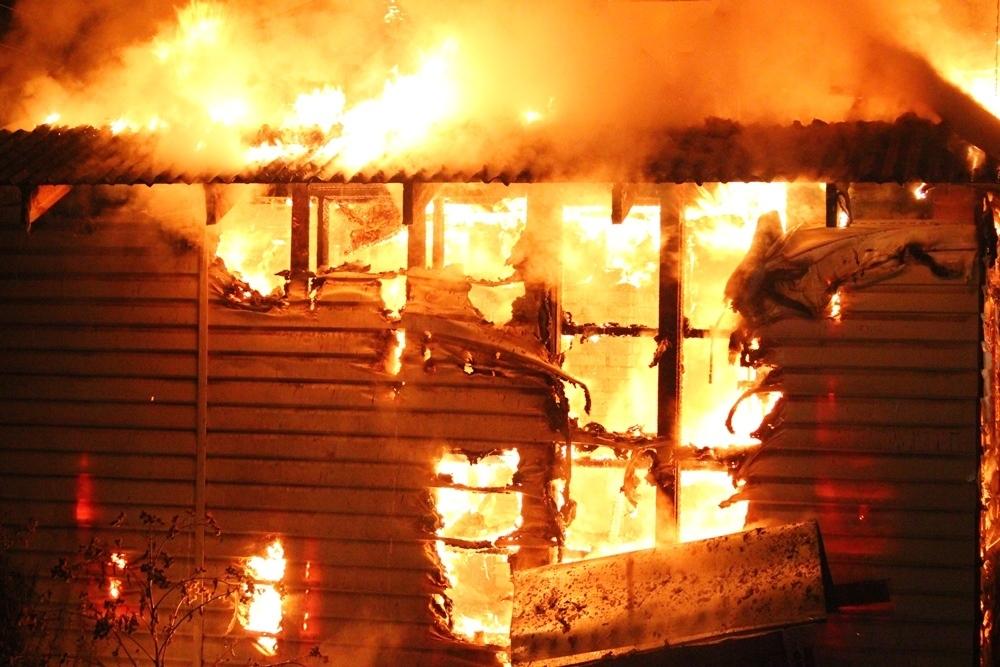 В селе Петрунино Камышинского района произошел пожар