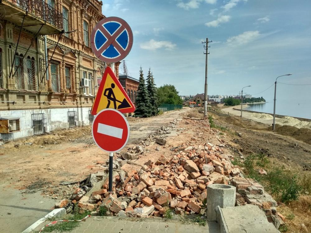 В Камышине развернулась с размахом стройка на улице Набережной