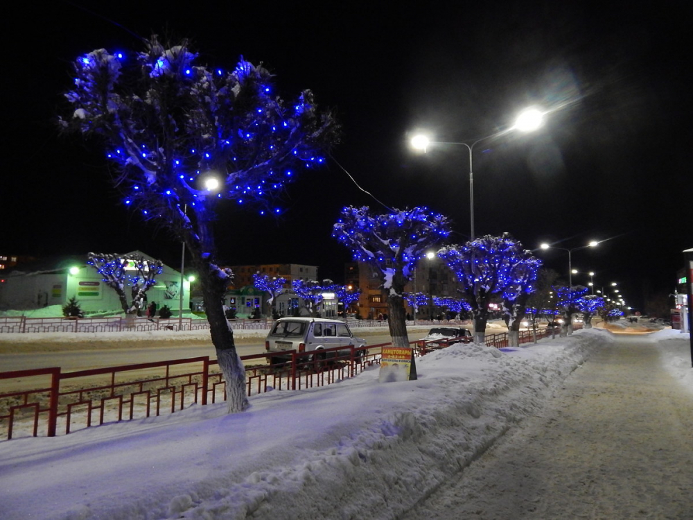 Камышанам нравятся «европейские огни» на улице Ленина