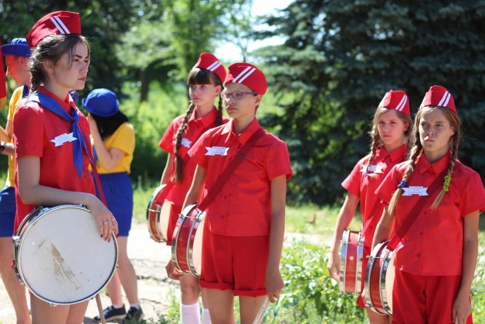 В лагере «Солнечный» под Камышином прошла линейка, посвященная Дню России