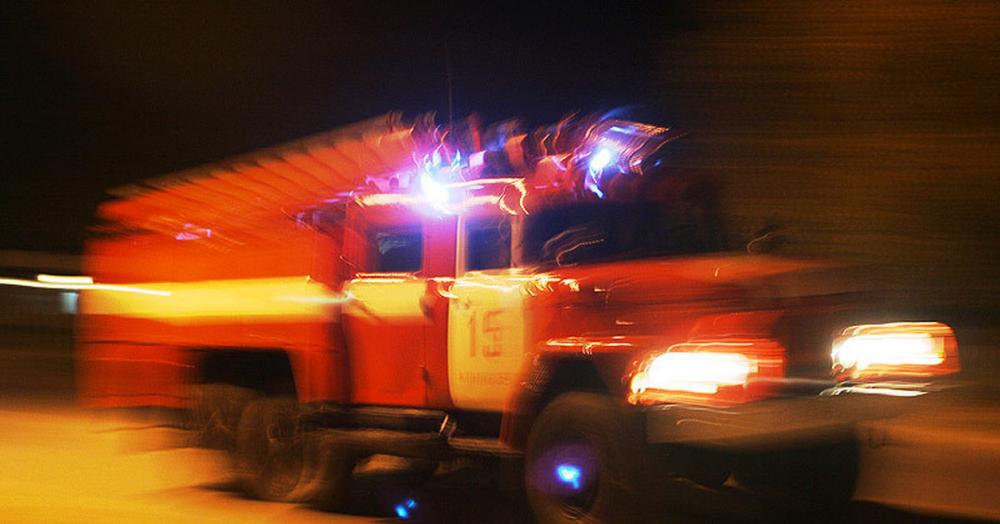 В Камышине на улице Колесной сгорела кирпичная баня