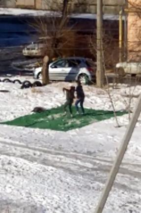 В сеть попало видео азартных юных камышанок, зажигающих на снегу, на зеленом ковре
