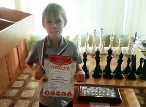 Камышинские бизнесмены вручили деньги организаторам поездки маленького шахматиста на большой турнир