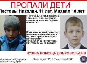 Волонтеры «ВолгоСпаса» объявили поиск двух пропавших в Камышине мальчиков