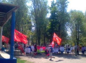 Калач-на-Дону в Волгоградской области попал  в программы ведущих российских телеканалов после сегодняшнего митинга против пенсионной реформы