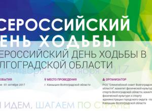 Камышин удостоен являться центральной площадкой проведения Всероссийского Дня ходьбы