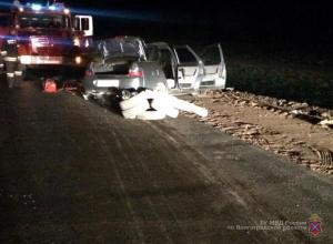 В страшном лобовом столкновении на трассе Камышин - Волгоград один участник ДТП скончался на месте, трое других с тяжелыми травмами в больнице