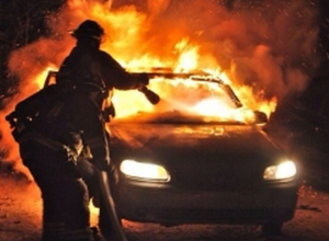 В Камышине на улице Гороховской сгорел автомобиль
