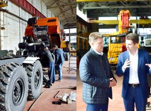 Впервые на камышинском заводе производится сборка  автокранов грузоподъемностью 25 тонн