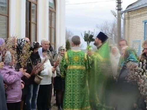 Православные верующие отмечают сегодня Вербное воскресенье