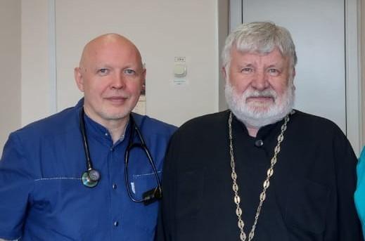 Руководитель отдела Волгоградской епархии протоиерей Георгий Лазарев в Камышине приобщился к делам сердечным
