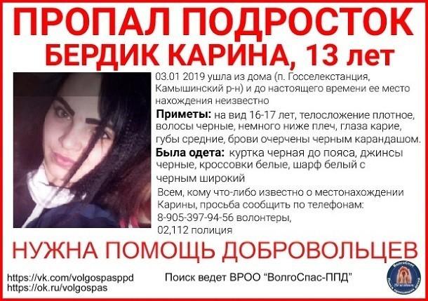 13-летняя девушка загадочно пропала в Камышинском районе