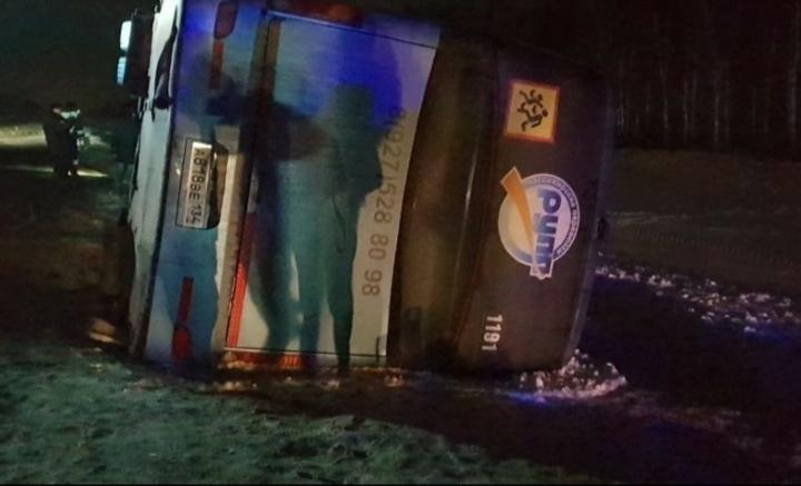 Автобус «Камышин - Москва» перевернулся в Тамбовской области, есть раненые, в том числе ребенок