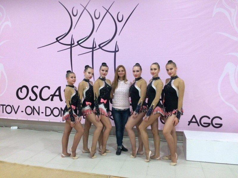Команда гимнасток изКамышина стала обладателем серебряного «Оскара» вРостове-на-Дону
