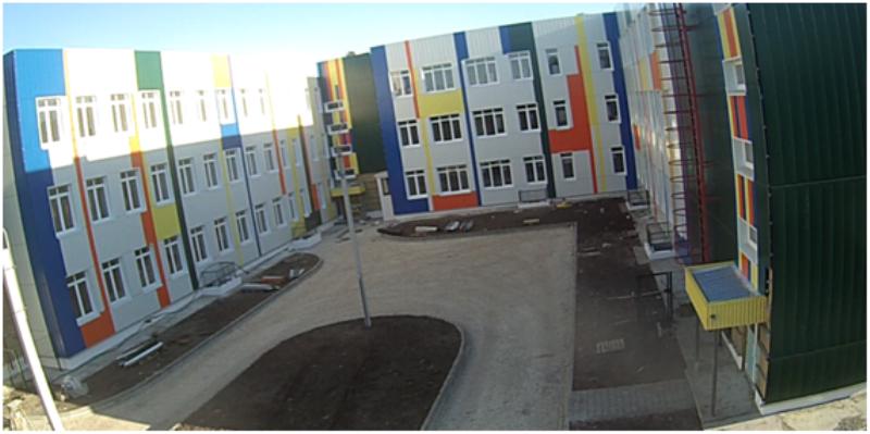 ВКамышине уже  завершились общестроительные работы школы на1000 детей