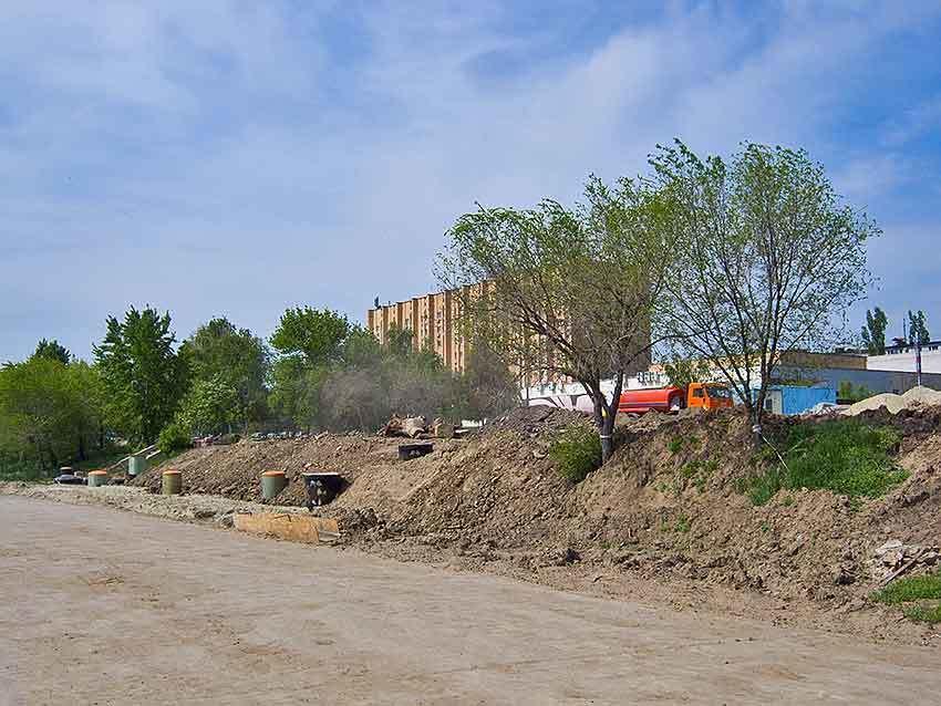Работы по строительству очистных сооружений на набережной Волги в Камышине будут завершены в середине лета