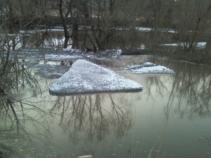 В Камышинском районе река Иловля начала освобождаться ото льда