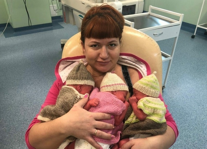 Тройня малышей появилась на свет у очаровательной рыжеволосой мамы в перинатальном центре Волгограда - «Блокнот Волгограда»